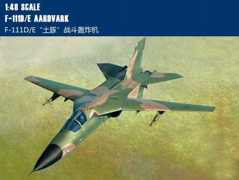 RealTS HobbyBoss 1/48 80350 F-111D/E Aardvark Model Kit Hobby Boss цена