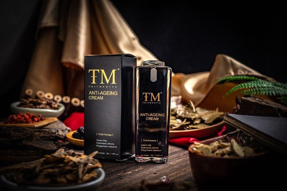 TRITMENTVE Anti Aging Cream TCM formula Repair skin damage Increase skin elasticity natural reduce wrinkles tighten the skin in Night Creams from Beauty Health