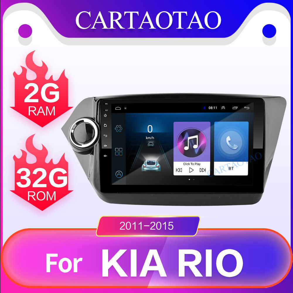 "2 din Android 8.1 For KIA RIO 3&4 car multimedia video player 9"" touch screen GPS stereo navigation WiFi player RAM 2G + ROM 32G"