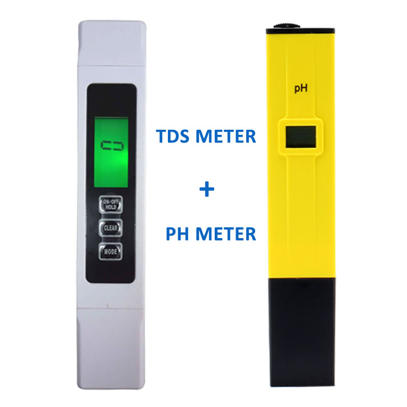 Backlight Digital TDS Meter Tester +PH meter Water Quality Purity Filter With battery,Wide Range 9999 ppm,EC/Temp/ppm/ Free ship tds3 temp ppm lcd digital tds meter tester filter pen water quality purity teater temp pen