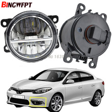 2x Car Exterior Accessories H11 LED Fog Lamps Front Bumper Fog Lights White For Renault Fluence L30 Saloon 2010-2015