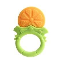 Baby Teethers Fruit Silicone Gel Teething Toy Fruit Shape Toys Toothbrush Traini