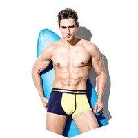 Mens sólido Boxers 4 unids Ropa interior Pantalones cortos gay atractivo calzoncillos respirables algodón diseños jockstraps del remiendo elástico 40% W