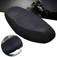 New Practical Motorcycle Net Polyester Seat Cover Electric Bike 3D Mesh Protector Cushion