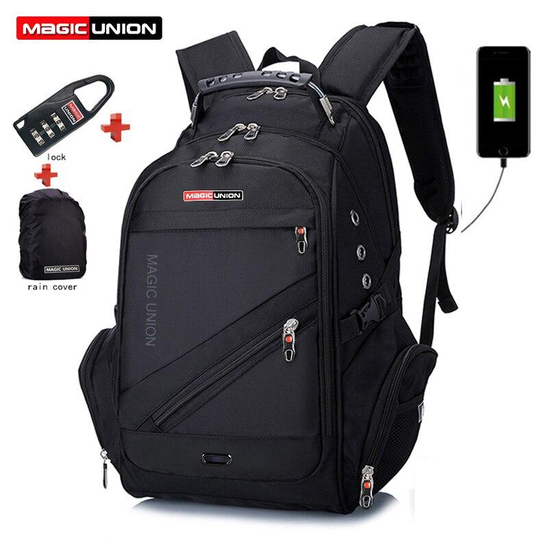 Magique UNION pochette d'ordinateur externe USB Charge ordinateur sacs à dos antivol hommes sacs imperméables garçon école sac à dos sacs d'école