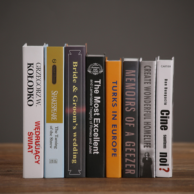 Modern Minimalist Decor Decoration Home Furnishing Simulation Books Living Room Study Bookshelf Props Fake Book
