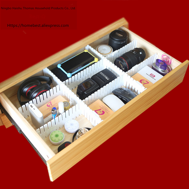 Image 2 - Free shipping Free combination drawer partition / finishing grid / drawer separator / storage partition / plastic partition-in Home Office Storage from Home & Garden