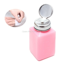 New 1Pc Empty Pump Dispenser Container Cleaner Nail Polish Remover Liquid 200mL Bottle HTY07