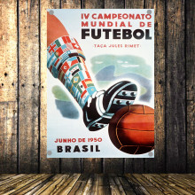 1950 World Cup in Brazil Large Vintage Football Poster Banner Flag Tapestry HD Senior Art Cloth Painting Wall Chart Home Decor