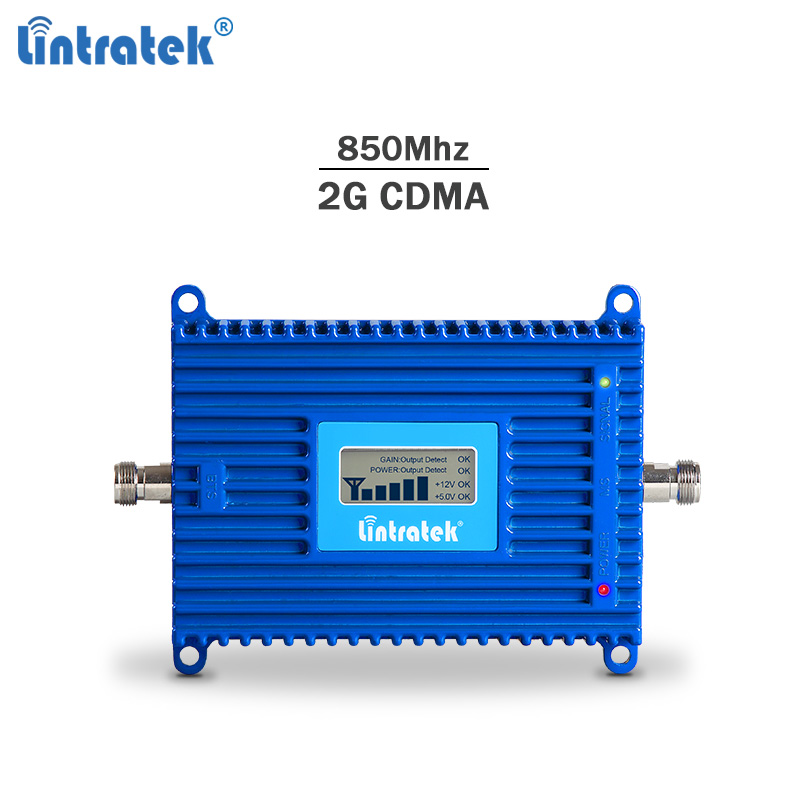 Lintratek Repeater 850Mhz Signal Booster 2G 3G CDMA Cellphone Signal Repeater 3G Band 5 Mobile Phone Repetidor 850Mhz 70dB AGC