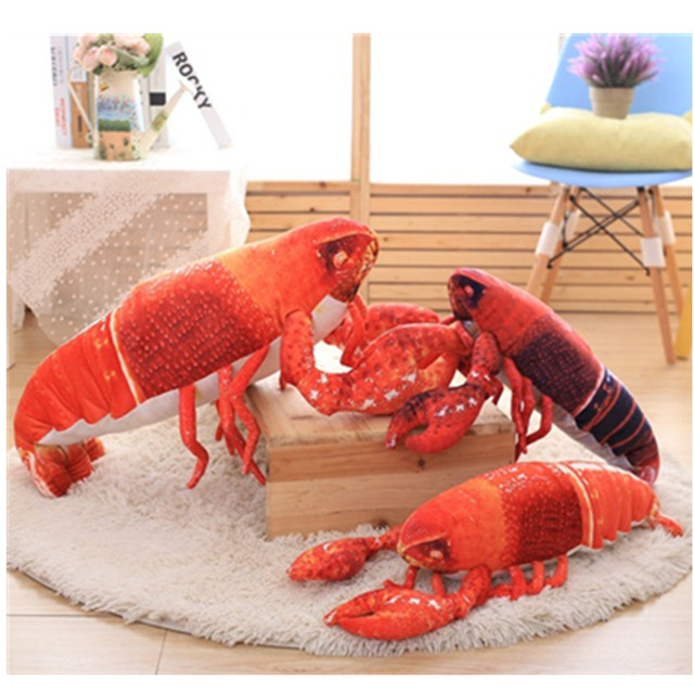 cute Lobster gifts for children cartoon kids sofa toy lumbar pillow