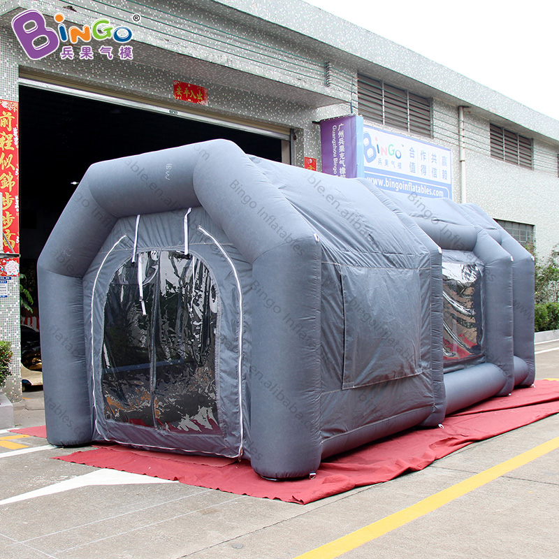 customized 6 3 3 3m grey color inflatable spray paint booth tent toy tent