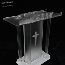 Fixture Displays Truss acrylic podium pulpit lectern church school restaurant reception with Cup Holder Reception Desk(China)