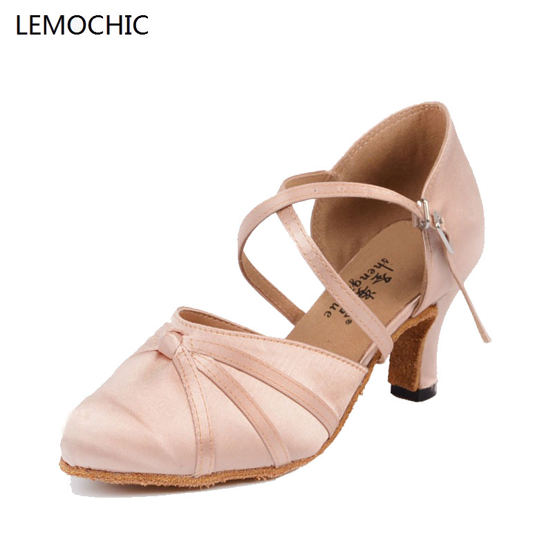 LEMOCHICnew style rumba latin tango jazz belly tap arena classical ballroom shoes high quality for dancing ladies girls