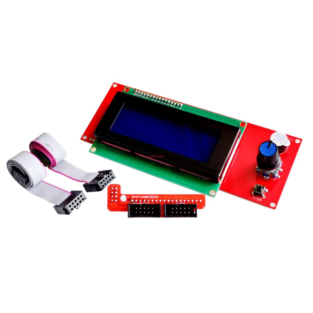 5sets/lot Promotion 3D Printer Kit Reprap Smart 3D Printer Parts Controller Display Reprap Ramps 1.4 2004 LCD LCD 2004 Control