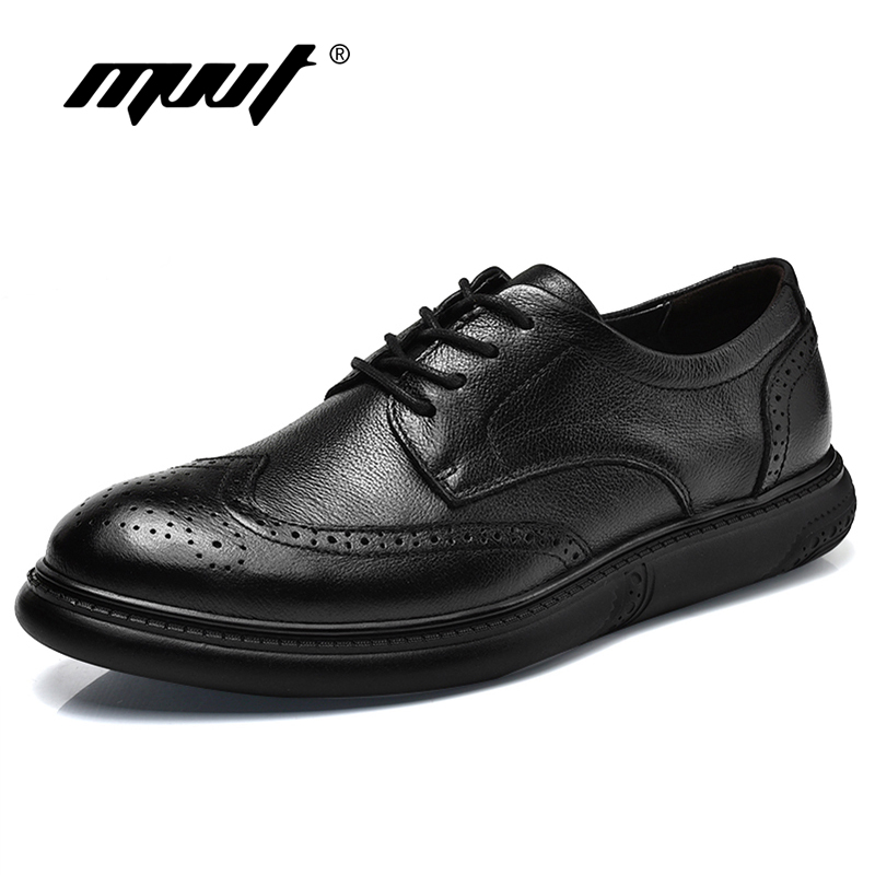 2018 British Style Genuine Leather Shoes Men Dress Shoes Leather Men Oxfords Formal Shoes Fashion Black Wedding shoes Plus Size snake pattern men genuine leather shoes fashion men oxfords shoes increased british style goodster handmade men leather shoes