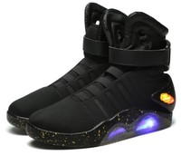 Hot New Adults USB Charging Led Luminous Shoes For Men's Fashion Light Up Casual Men back to the Future Glowing Sneakers