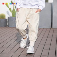 WOTTAGGA 2019 Hot Sale Children Pants for Baby Boys Trousers Kids Child Casual Pants Solid Colors Pants