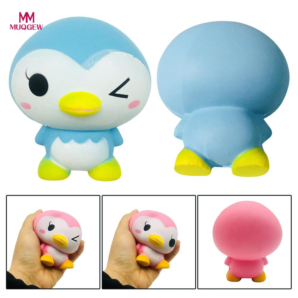 New style Super funny 9.5cm Cute Penguin Cartoon Scented Squishy Charm Slow Rising Squeeze Toy Charm cartoon penguin toy