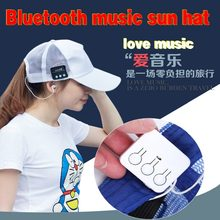 Zhenrong Wireless Bluetooth Headphone Music Sport Cap Smart Baseball Hat  with Hands-free Mic Earphone c1ce79f5ef92