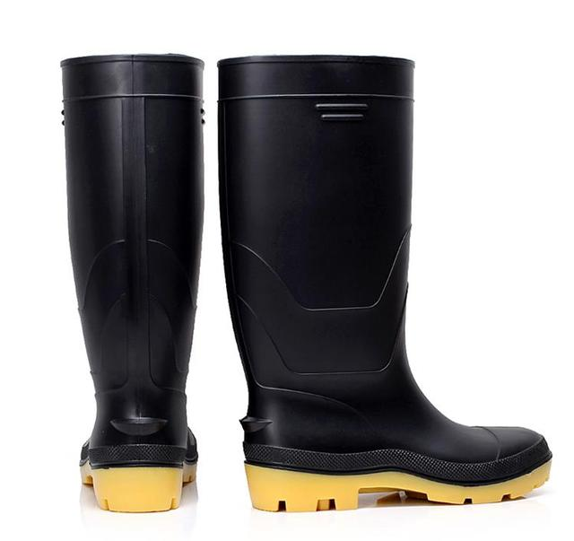 cliente primero estilo de moda gama completa de artículos € 40.51 |Tallas grandes para hombre de goma lluvia botas de pesca botas de  caza a prueba de agua al aire libre muck boot wellington botas de desgaste  ...