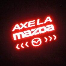 Car Styling Car Cover Car Protector Carbon Fiber Vinyl Sticker Brake Light decorative for Mazda axela