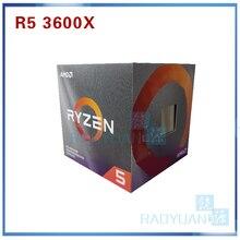 AMD Ryzen 5 3600X R5 3600 × 3.8 Ghz の 6 コア Twelve スレッド 7NM 95 ワット L3 = 32 メートル 100 000000022 Cpu プロセッサソケット AM4 クーラーファン