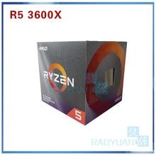 AMD procesador de CPU AMD Ryzen 5 3600X R5 3600X 3,8 GHz, seis núcleos, 12 hilos, 7NM, 95W, L3 = 32M, 100 000000022, AM4 con ventilador de refrigeración