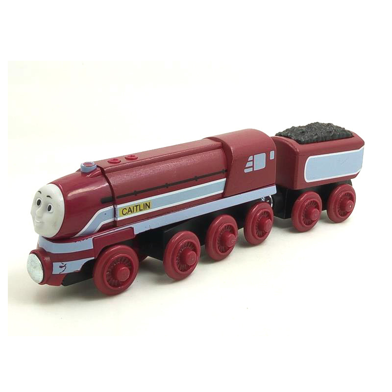 RARE NEW KAITLIN AND TENDER Original Thomas And Friends Wooden Magnetic Railway Train Model Engine Boy /Baby Toys Christmas Gift