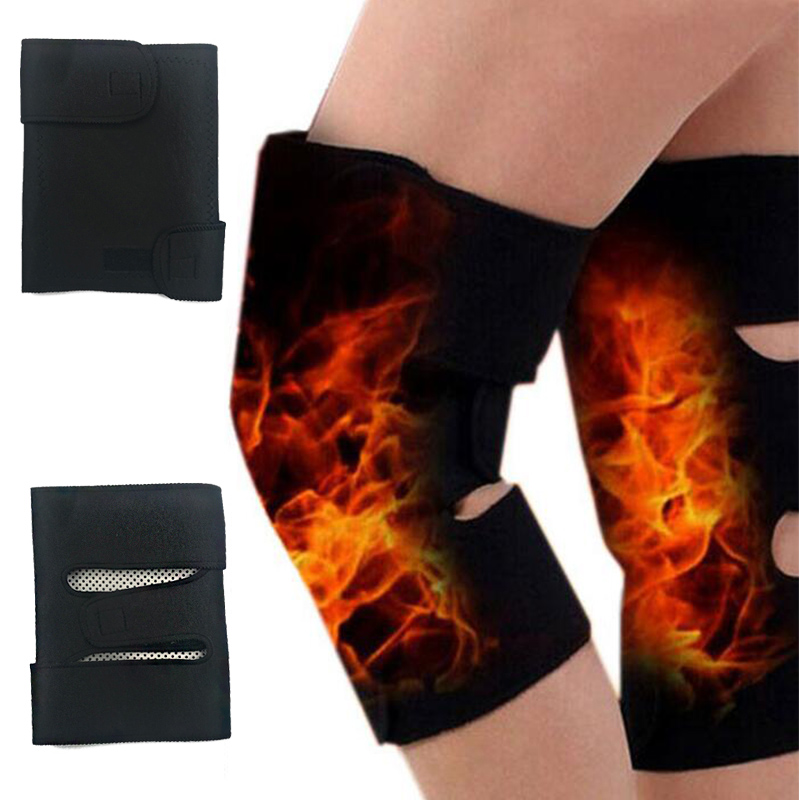 2PCS Knee Brace Support Pads Adjustable Tourmaline self-heating magnetic therapy Knee Protective Belt Arthritis Knee Massager 5