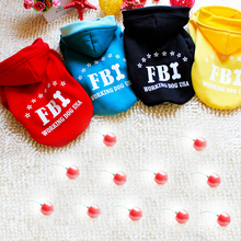 Teddy fall and winter clothes, fleece sweater, sweater explosion models FBI dog clothing, pet clothing 4 color Size S-XXL