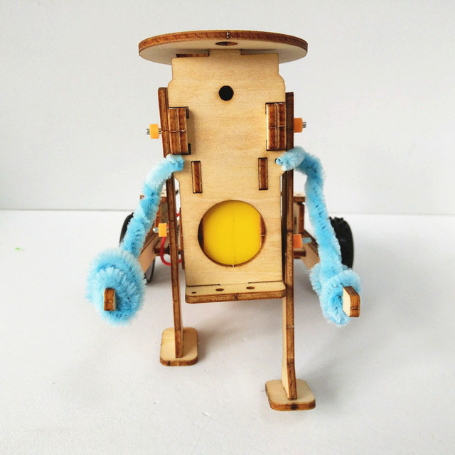 Happyxuan-DIY-Technology-Gadgets-Pulling-Robot-Construction-Set-Kids-Science-Experiment-Education-Fun-Physics-Toy-Learning