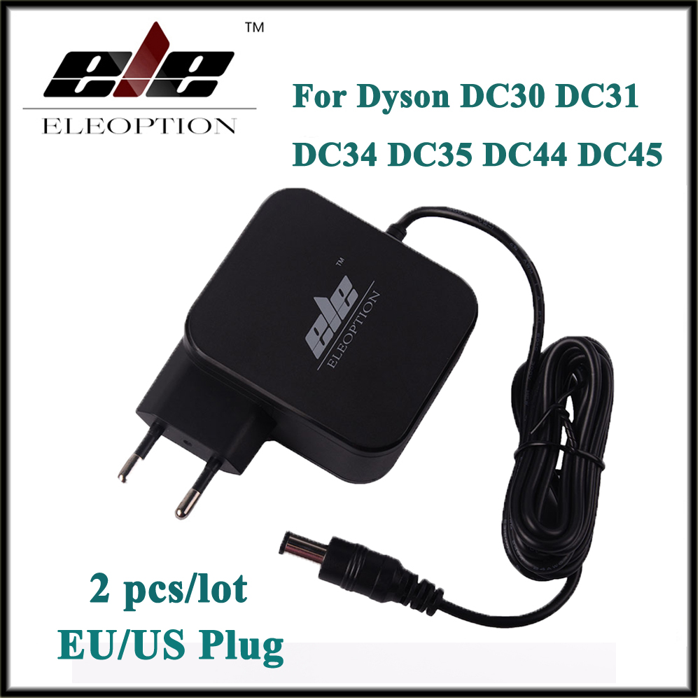 2x Eleoption AC Adapter Battery Charger Adapter for Dyson DC30 DC31 DC34 DC35 DC44 DC45 DC56