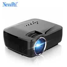 Newpal Proyector 1200 Lumens LED Proyector Del Teatro Casero Instalado en Android 4.4 WIFI Bluetooth Apoyo Miracast Airplay AC3 Proyector