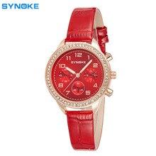 De cuero de Cuarzo Relojes de Marca de Lujo Del Diamante Reloj de Las Mujeres Populares de Moda Casual Relojes de Pulsera Relogio feminino Falso de tres agujas