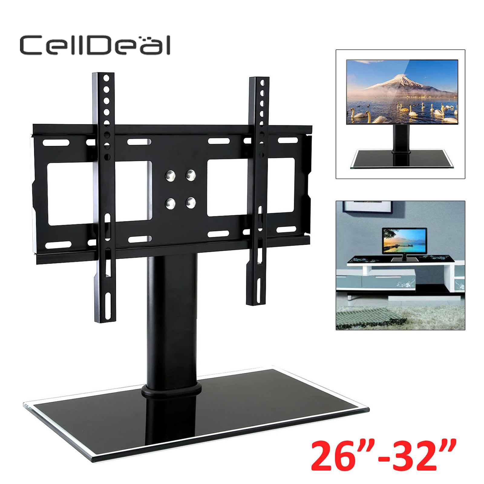 26-32 Universal Table TV Stand Bracket Pedestal LED LCD VESA Mount Metal Hanger for Frames26-32 Universal Table TV Stand Bracket Pedestal LED LCD VESA Mount Metal Hanger for Frames