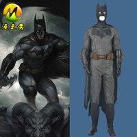 Высокое Качество Лига Справедливости Бэтмен Косплэй Костюм Брюс Уэйн Костюм с Бэтменом для Хэллоуина Superhero Необычные Косплэй костюм