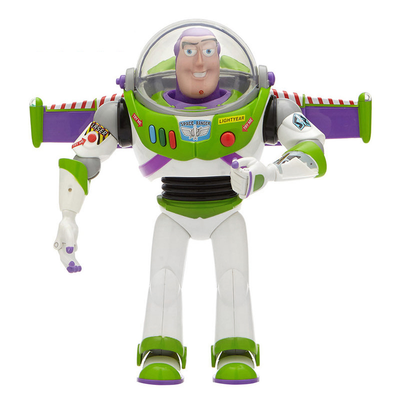 Toy Story 3 4 Buzz Lightyear Toys Talking Lights Speak English Joint Movable Action Figure Collectible