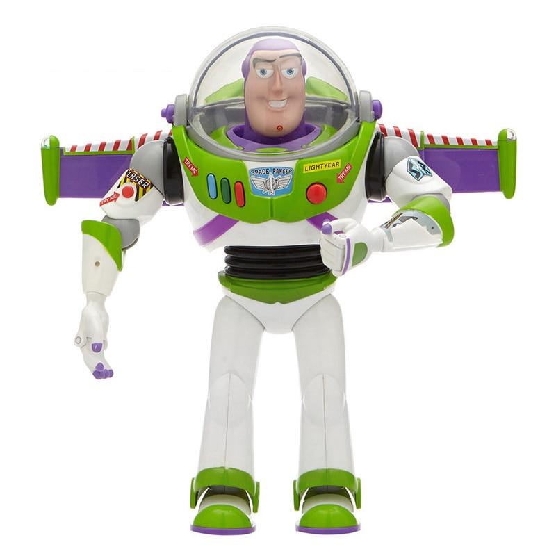 Toy Story 3 4 Buzz Lightyear jouets parler lumières parler anglais Joint mobile figurine à collectionner poupée jouet pour enfants garçon