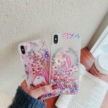 Quicksand Unicorn Liquid Case For Xiaomi Pocophone F1 Mi 5X Cover Redmi 5 Plus Note Pro 4X 4 4A 5A 6A 6 Silicon coque
