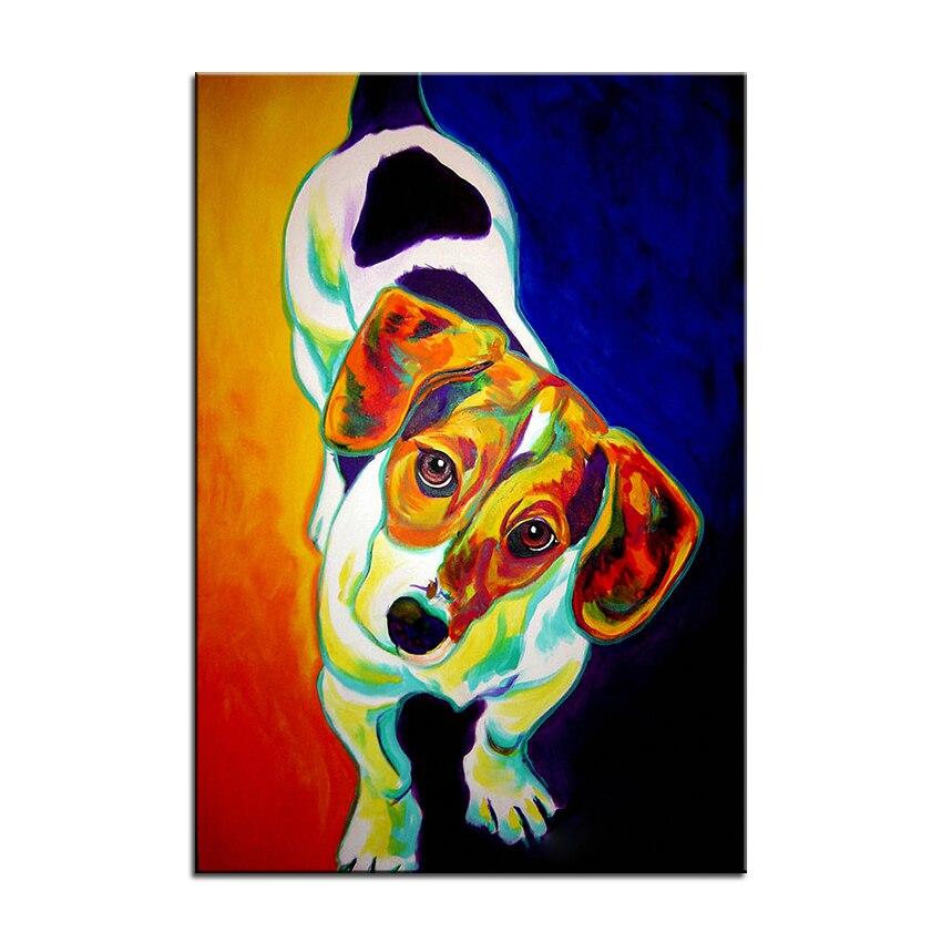 Große größe Drucken Ölgemälde wandmalerei beagle roller Dekoratives ...