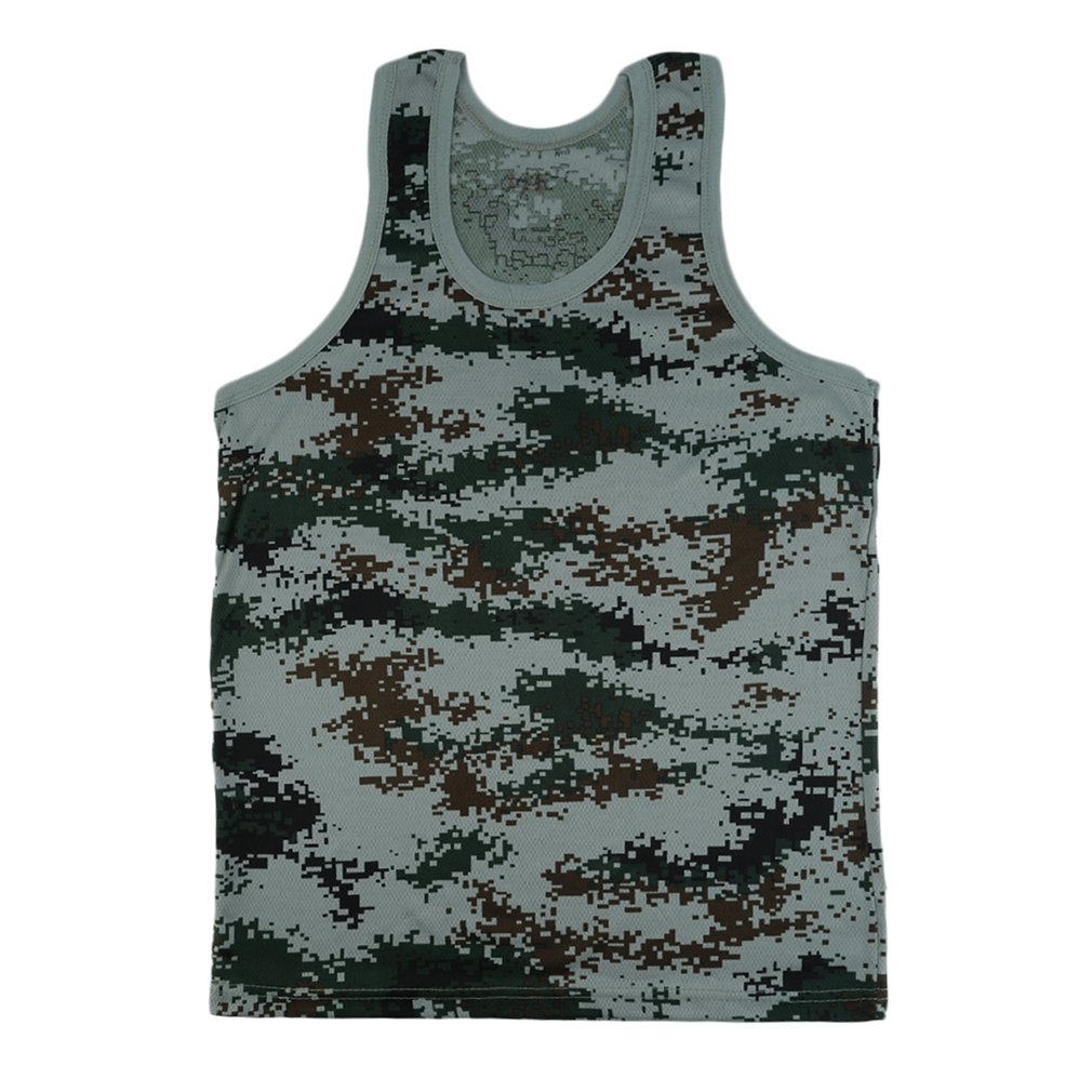 Men Bodybuilding Fitness Gyms Camouflage Tank Top Vest Stylish Brand Clothing Stretchy Wild Tight Sportswear Undershirt
