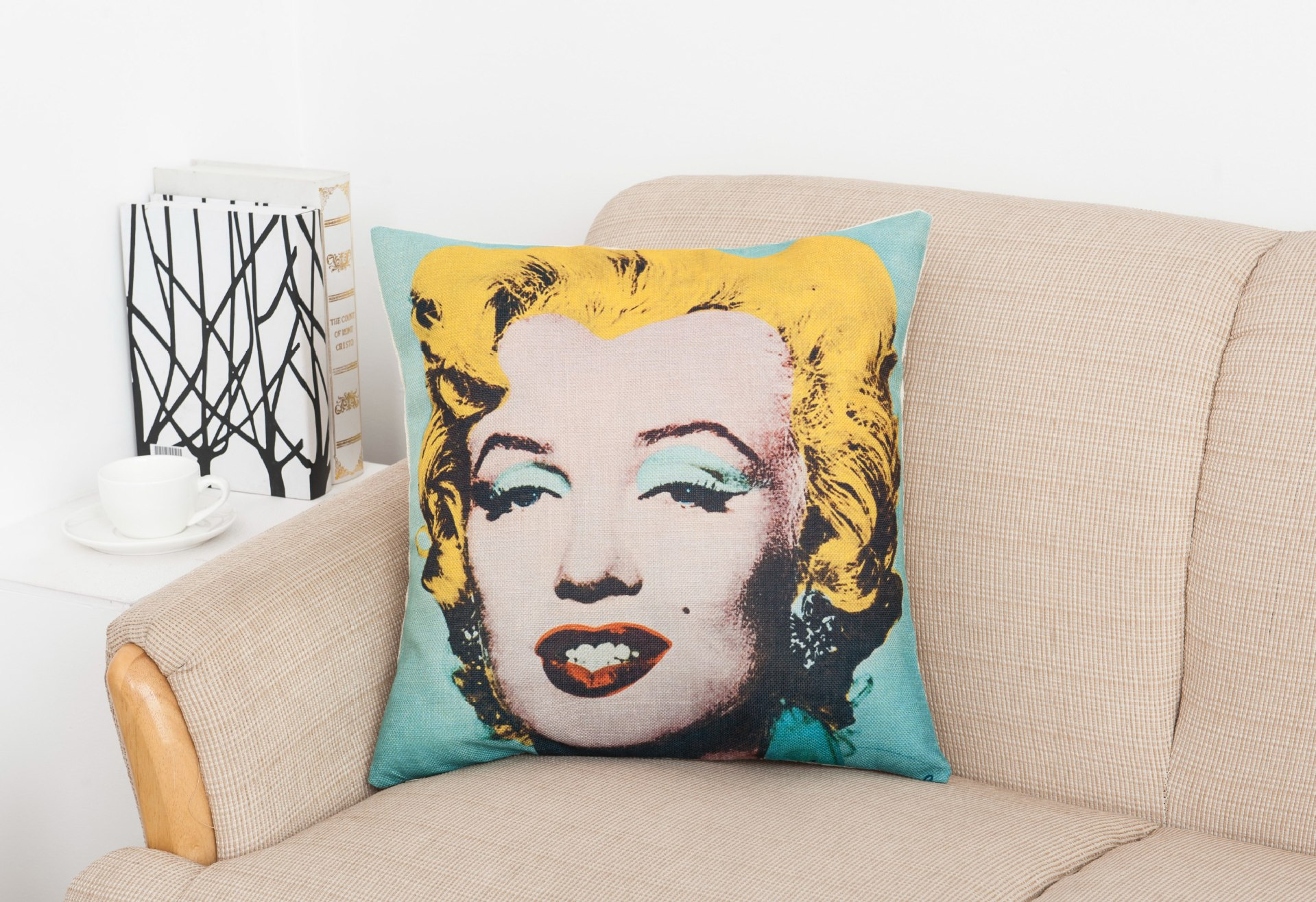 fashionmove polyester marilyn monroe cushion covers classic film