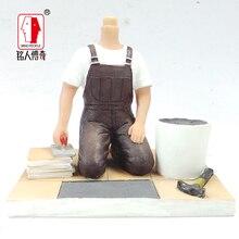 cake topper birthday gift Custom portrait doll custom personalized custom real clay dolls fixed body DR357 resin