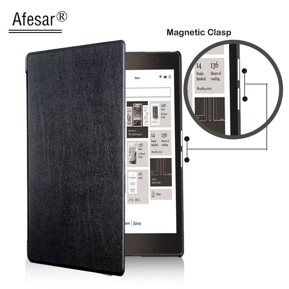 funda Pu leather Book Cover for capa Rakuten Kobo Aura Edition 2 New 6 inch eReader Case magnetic flip use for kobo aura 2016 ultra slim custer 3 folder folio stand pu leather magnetic skins cover protective case for kobo aura one 7 8 inch ereader ebook