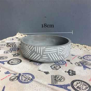 Silicone flowerpot mould stripe design cement pot molds