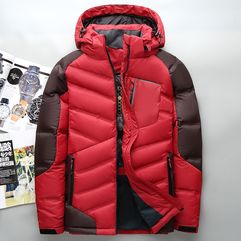 Famous Brand Winter Jacket Men Patchwork Warm Duck Down Jacket Hooded Windproof Outwear High Quality Coats Male