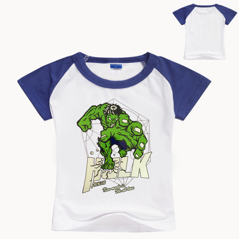 Z&Y 3-16Years Cartoon Hulk Clothing Boys T-shirt Kids Baby Boy Tshirt Tollder Girls Short Sleeves Shirt Roupas Infantis NO7160