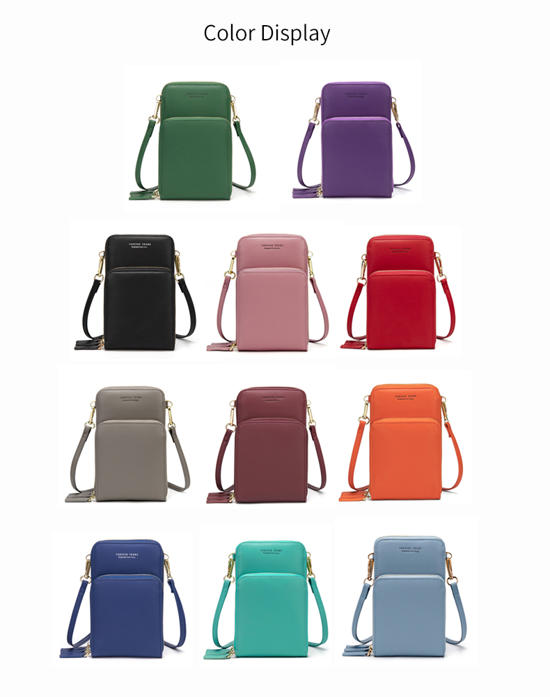 New Arrival Colorful Cellphone Bag Fashion Daily Use Card Holder Small Summer Shoulder Bag for Women 4