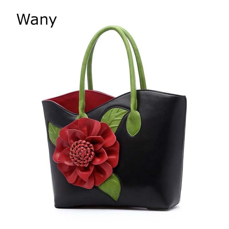 2017 vintage national trend three-dimensional flower bag women's handbag cross-body female bag big Chinese style bags